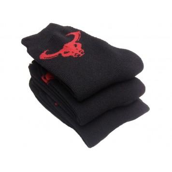 Носки с быком, махровые, черные - 8 пар-4