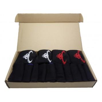 Набор носков 4 махровых и 10 классических черных-1